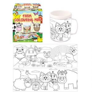 Farm Colouring Mug - Colour Your Own Arts & Crafts